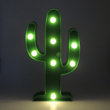 SANHOOII 25.2*11.5cm Indoor Wall LED Light Green Cactus Night Lamp For House Room Decoration Kid's gift(China)