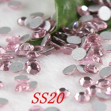 SS20 1440pcs/lot light pink strass non hot fix flatback rhinestones mobile phone DIY casual dress appliques(China)