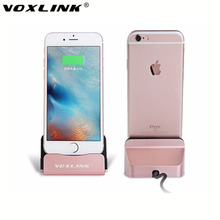 VOXLINK Sync Data Charging Dock Station Desktop Docking Charger for iPhone 7 6 6s Plus 5 5S 5C iPad 5 6 iPad Air ipad Mini 2 3