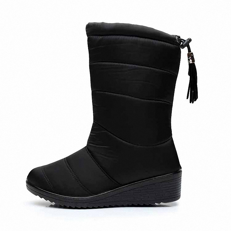 Winter Women Boots 2016 New Brand Waterproof Tassel Boots Down Snow Boots, Women Warm Fur Boats Mujer Elastic Cotton Shoes<br><br>Aliexpress