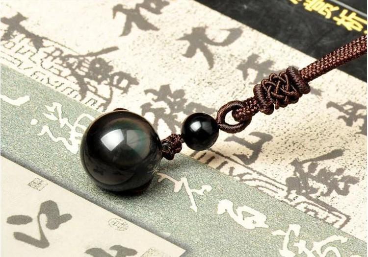 pendentif obsidienne oeil céleste pour homme et femme