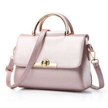 Casual Solid Women Handbag Simple Clemence Lady Messenger Bag Black Pink Red Gray Purple Blue Beige Purple and Rubber red colors