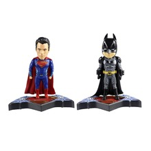 2pcs World's Finest Batman VS Superman Man of Steel Action Figure Free Shipping(China)