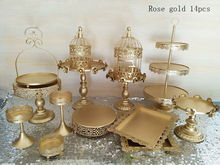 gold wedding cake stand set 14  pieces cupcake stand barware decorating cooking cake tools bakeware set party dinnerware