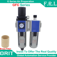"Free Shipping GFC200 PT1/4"" Airtac Type Air Filter Regulator Combination Lubricator FRL Two Union Source Treatment Separtor Unit"