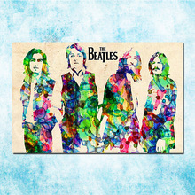 The Beatles Super Rock Band Art Silk Canvas Poster Print 13x20 inch Music Pictures Bedroom Decor (more)-004(China)