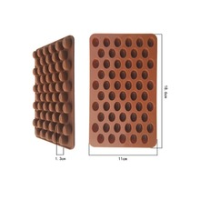 New Arrival High Quality Silicone 55 Cavity Mini Coffee Beans Chocolate Sugar Candy Mold Mould Cake Decor(China)