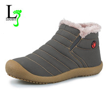 Men Boots 2015 Winter Best Quality Snow Boots Men Outdoor Shoes Soft Waterproof Shoes Warm Shoes With Fur