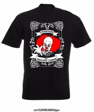 Gildan Fashion Tee Shirts Brand The Dancing Clown IT Stephen King Horror Movie T-Shirt cheap T shirt online(China)