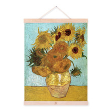 Vincent Van Gogh Modern Yellow Sunflower Poster Prints Original Floral Vase Canvas Oil Paintings Living Room Fine Wall Art Gifts