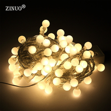 ZINUO Holiday 10M Decorated LED String 80led Ball AC220V Outdoor String Light Wedding Garden Party Christmas New Year Decoration(China)