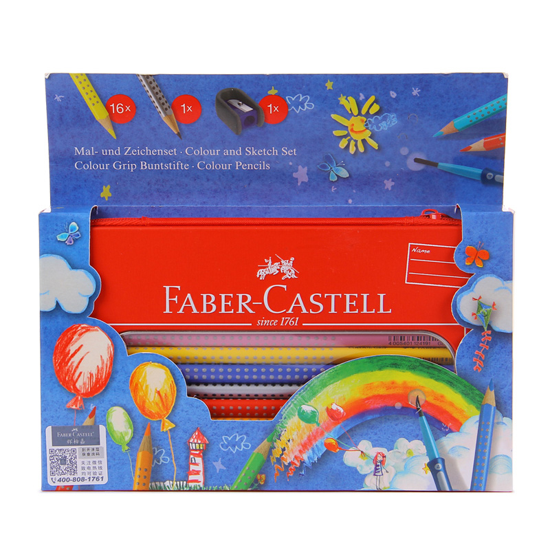 FABER CASTELL Characteristic triangular thick bar water soluble color pencil art painting  watercolor pencil<br>