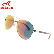 DILICN Flat Top Wood Bamboo Sunglasses Men Women UV400 Polarized Aviator Sun Glasses Driver Sport Eyewear Goggles Oculos De Sol(China)
