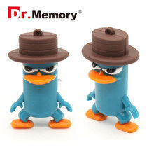 Silicon usb flash drive cute pen drive 16g/8g/4g/32g flash card 64gb usb stick cartoon usb 2.0 flash drive Daffy duck