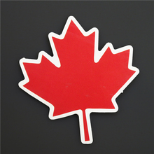 Canadian Maple Leaf National Single Logo Sticker Home Pvc Waterproof Decal For Suitcase Luggage Travel Trip Stickers   A-68