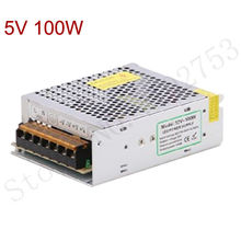 100W Switching led power suply 5v 1pcs new free shipping qualified power adapter driver for LED Strip Light 220V/110V converter
