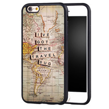 lve got the travel bug Printed Protective Soft TPU Skin Mobile Phone Cases For iPhone 6 6S Plus SE 5 5S 5C 4 4S Back Shell Cover
