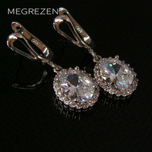 Silver Rhinestone Earrings With White Stones For Women Vintage Earing Brincos Com Cristal Azul Accessories Wholesale China Ye003
