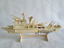 DIY three-dimensional wooden puzzle imposition  Children's intelligence toys  Hand assembled puzzle cruiser battleship model