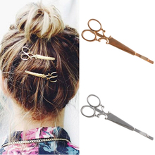 Fashion Korean Style Women Scissors Shape Hair Clip Fashion Hair Pin Hair Accessory new(China)