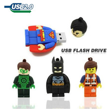 usb flash drive 64gb pen drive 32gb pendrive 16gb 8gb 4gb superman batman new style Hot Sale pendrive Usb 2.0 cartoon(China)