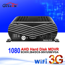 8CH AHD Mobile Dvr 1080 3G GPS Wifi Function Hard Disk Bus Video Recorder Andriod Iphone PC 24H Watching Remote Truck AHD Mdvr