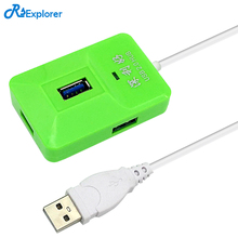 USB 2.0 HUB Support 4 USB port High speed support hot swap plug and play no driver needed Adapter Sharing Switch for PC