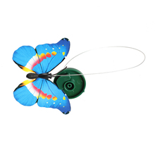 Hot Sell Toys Solar Powered Dancing Flying Butterfly Garden Decoration Color At Random Toy For Children A10 FL(China)