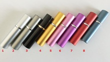 9colors 5ml Mini Portable Aluminum Refillable Perfume Bottle With Spray Empty Cosmetic Containers Atomizer For Traveler