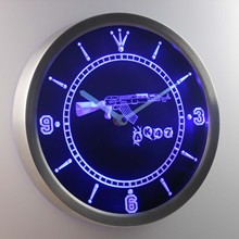 nc0089 AK47 NEW KALASHNIKOV Airsoft Gun Neon Sign LED Wall Clock(China)