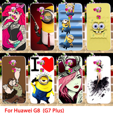 TAOYUNXI Soft TPU Cases For Huawei G8 (G7 Plus) D199 GX8 5.5 inch Cartoon Animals Hard Cell Phone Cover Bags Skins Hoods(China)