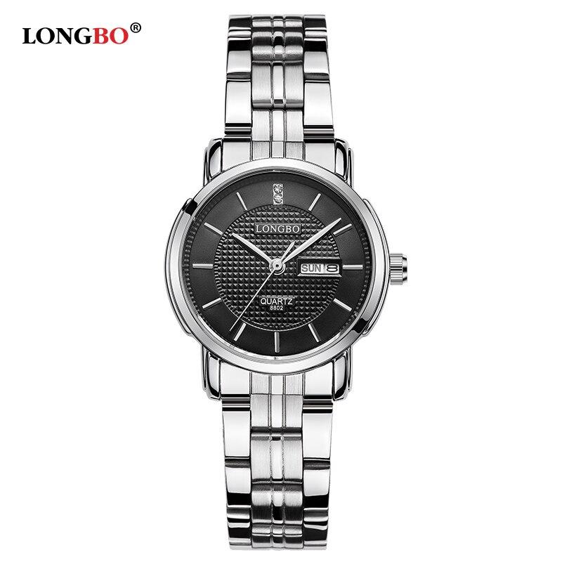 LONGBO Brand 2017 New Luxury Women Watch Full Steel Watch Double calendar High Quality Ladies Business Wristwatch Montre Femme<br><br>Aliexpress