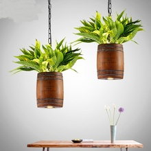American Corks Plant Personality Country coffee Walnut Pendant Lights Creative Personality Restaurant Bar Designer LO72513(China)