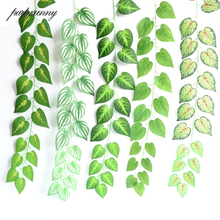 95CM Artificial Leaf Vine for Wedding Party Kids Room Decoration DIY Silk Rattan for Scrapbooking Ornament DIY Garland Accessory(China)