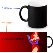 Jessica Rabbit Magic Mug Custom Photo Heat Color Changing Morph Mug 350ml/12oz Coffee Mug Beer Milk Mug Halloween Gift