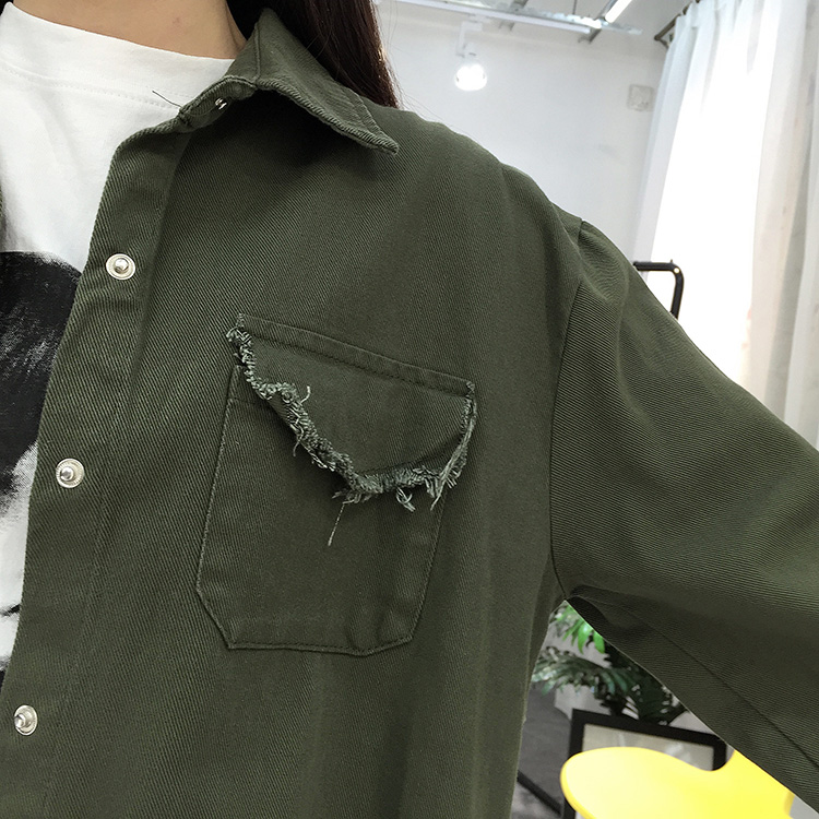 2018 Spring Autumn New Long Section Lapel Tassel Denim Jackets Women Loose Casual Long Sleeve Female\'S Thin Basic Jacket Coats (25)