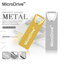 microdrive Pendrive 64GB Metal USB Flash Drive 32GB Waterproof USB Stick Real Capacity 16GB 8GB Pen Drive Wholesale Price