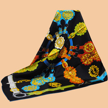 "Huajun || scarves brand new color ""Cuivreries"" 90 silk scarf 100% silk twill scarves printed scarf shawl"