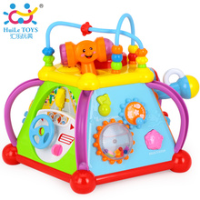 Free Shipping Baby Toys Happy Small World Puzzle Brinquedos para Bebe Early Development Toys Multifunctional Game Xmas Gift