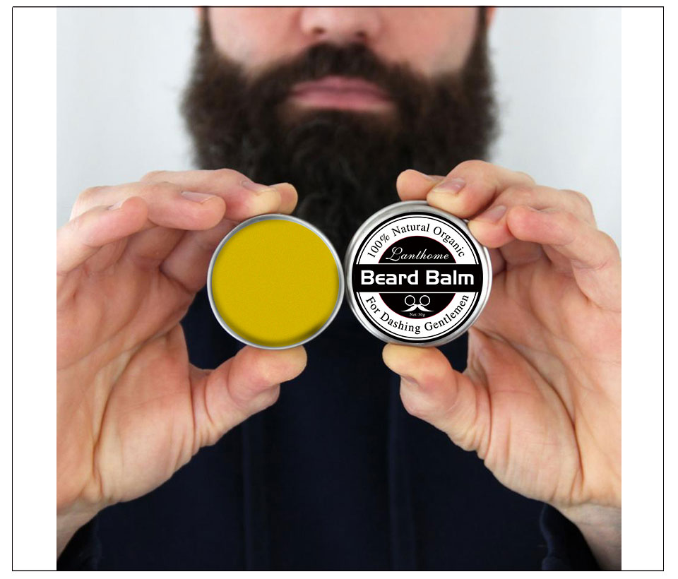 New Natural Beard Oil Balm Moustache Wax for styling Beeswax moisturizing smoothing gentlemen beard care Wholesale Dropshipping