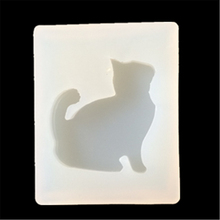 1 Piece DIY Pendant Silicone Mold Resin Jewelry Pendant Mould Handmade Decoration Tools cat Design E447
