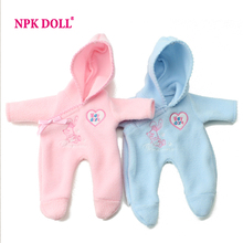 "Doll Clothes Adorable Romper Clothes For 10"" Reborn Baby Dolls Cute Fashion Dolls Accessories(China)"