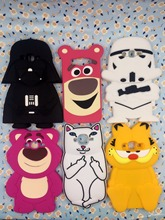 3D cartoon Strawberry Bear Garfield Cat rock corna cat Star Wars Darth Soft Phone Cover Case For Samsung Galaxy 2015 A5 J5 E5