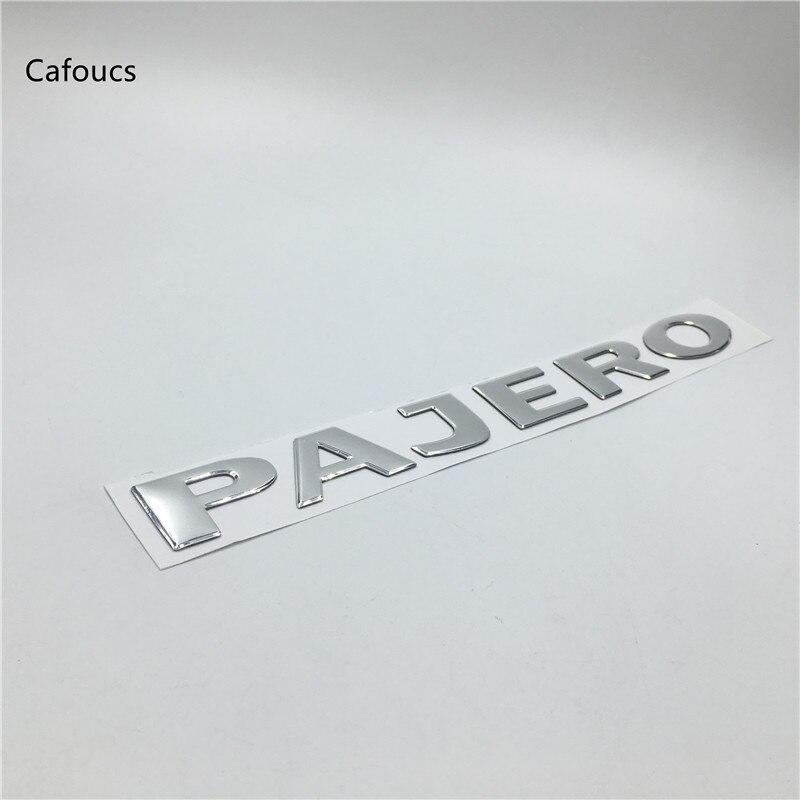 1x PAJERO SPORT Black Chrome 3D Emblem Badge Alphabet Letter number Car DIY word