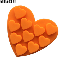 Heart Jelly Pudding Silicone Mold Candle Making for Homemade Cake Decorating Tools Soap Molds Kitchen Accessories