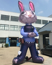 Custom 10ft giant crazy animal city inflatable rabbit model for outdoor advertising(China)