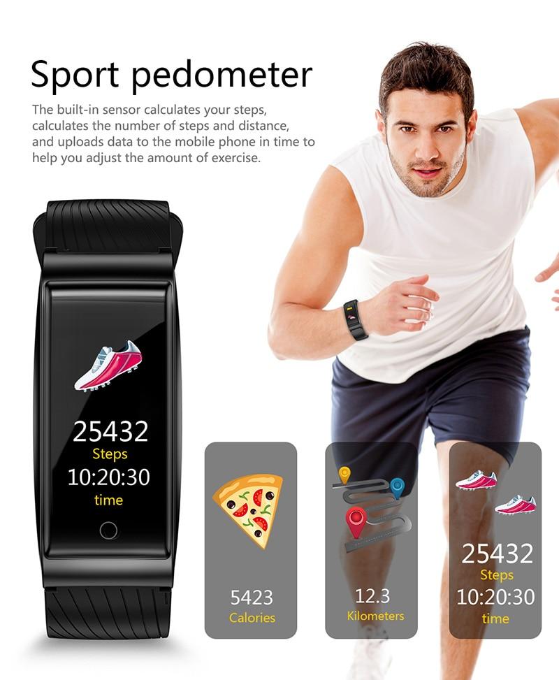 VERYFiTEK F4 Metal Smart Band Wristband Blood Pressure Heart Rate Monitor Men Women Fitness Watch Pedometer Smart Bracelet (13)