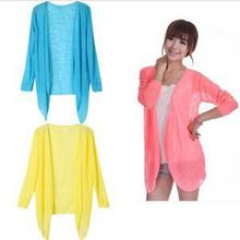 Casual Women Blouses/Fashion Women Tops/Candy Color Full Sleeve Sun Protection Clothing for Women