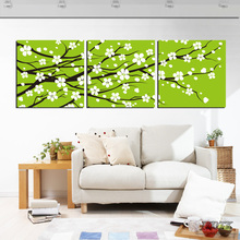 Adornment picture Canvas picture without frame Parcel post Plum blossom callas sunflower Butterfly orchid