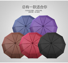 Automatic umbrella folding business men and women folding dual large double reinforcement wind three